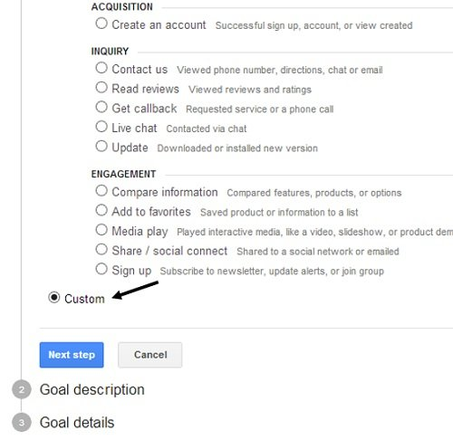 custom-goals