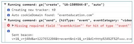 missing event action