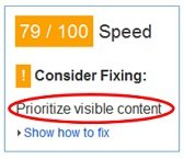 prioritize visible content