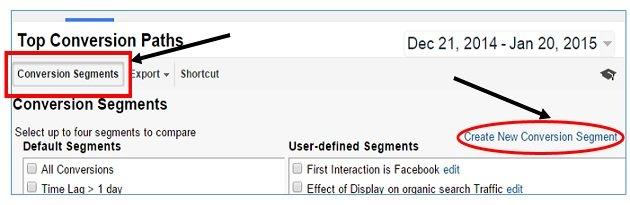 conversion segment button