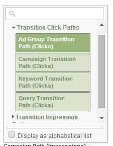 transition click paths