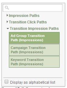 transition impression paths