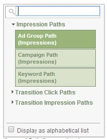 types of impression paths