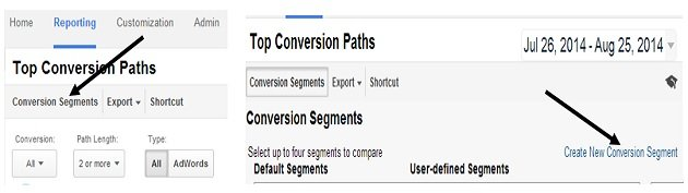 universal analytics conversion segments