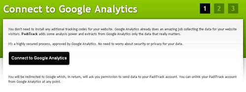 connect to google analytics