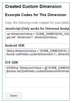 example custom dimension code