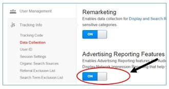 advertising reporting features data