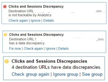 clicks and sessions discrepancies