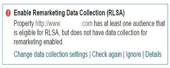 enable remarketing data collection