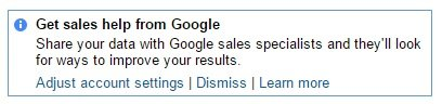 get sales help from Google