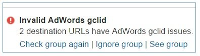 invalid adwords glcid