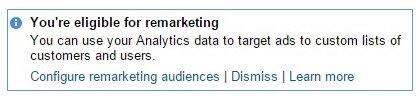you are eligible for remarketing