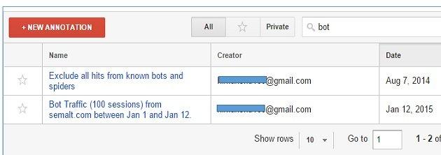 bot traffic annotation