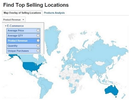 find top selling locations