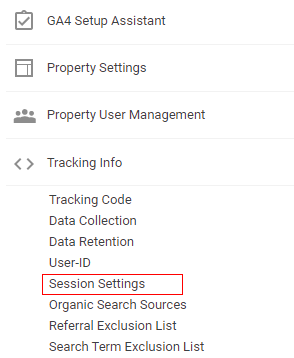google analytics sessions session settings