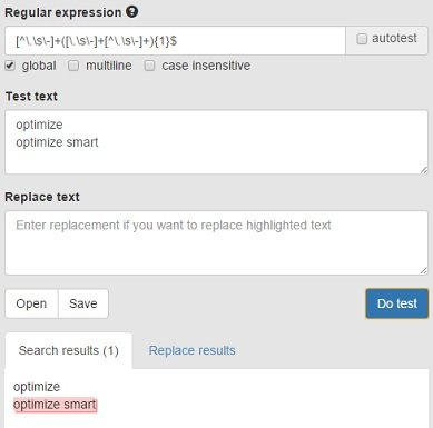 regular expression checker