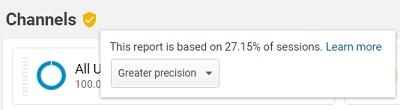 google analytics sampling