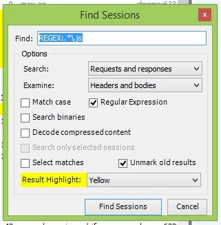 find sessions regular expression