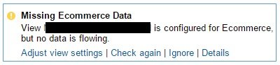 missing ecommerce data
