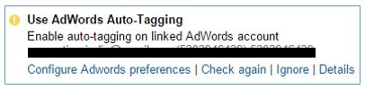 use adwords autotagging