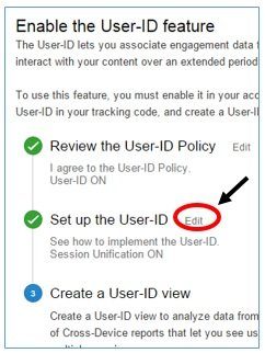 edit set up the user id