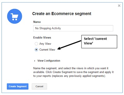 create an ecommerce segment
