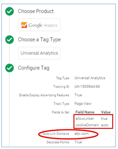Universal Analytics tag configuration2