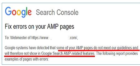 fixing amp errors