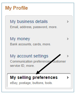 my selling preferences