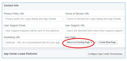 select an existing page