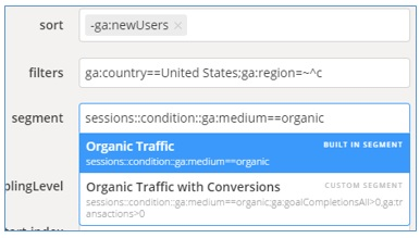 organic traffic segment