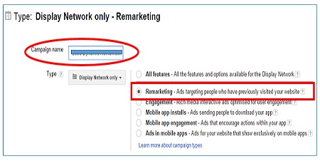 remarketing radio button