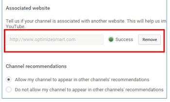 associated website