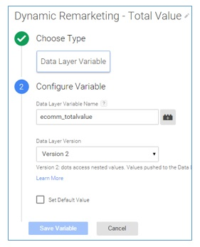 data layer variables2