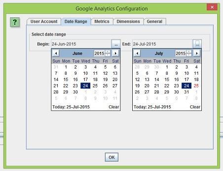 date range tab