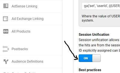 Setting up Cross device tracking via User Id in Google Analytics