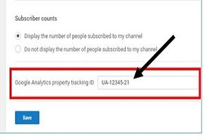 Google Analytics and YouTube Integration