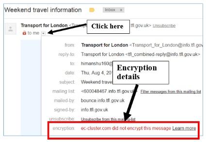 encryption details