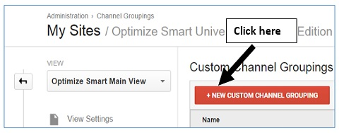 custom channel grouping button