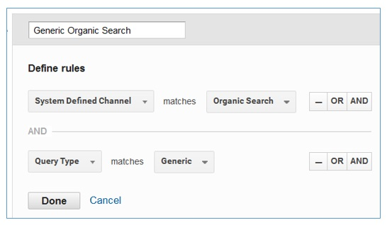generic organic search channel