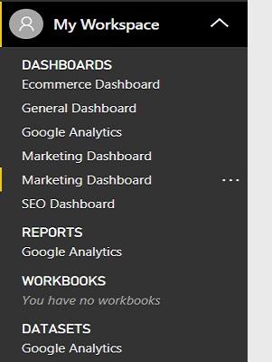 Visualizing Google Analytics data via Microsoft Power BI