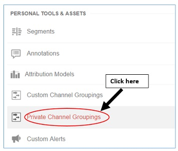 private channel groupings