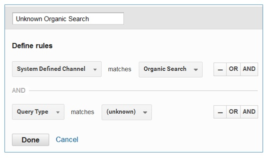 unkown organic search channel