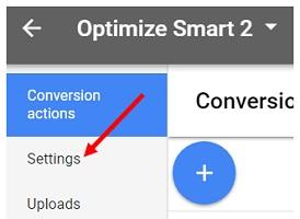 conversion settings