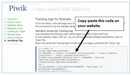 piwik tracking code