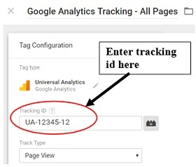 enter tracking id 1