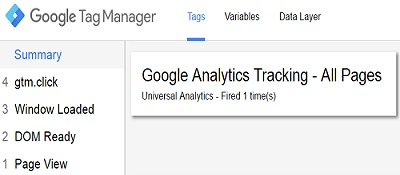 google analytics tracking firing