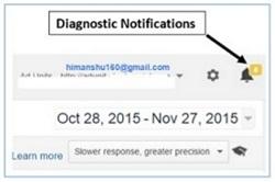 google diagnostics notifications
