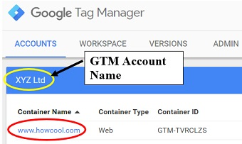 gtm account name