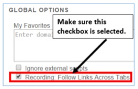 recording follow links